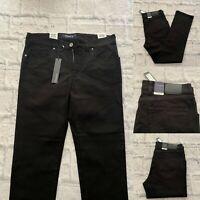Atelier Gardeur Black Jeans, 34R, Nevio-11, Regular Fit, 34W, 32L, BNWT