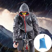 Men's Bike Cycling Rainwear Suits Raincoat Bicycle Riding Rain Pants Clothing