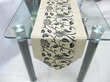 New Dining Kitchen Table Runner Home Wedding Decor 200x28cm Ivory Gold colour