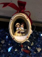 Authentic Disney  Victorian Christmas Ornament Holiday Egg NEW Free Ship