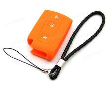 Orange Silicone Case For Toyota Avensis Verso Prius Remote Smart Key 2 3 Buttons