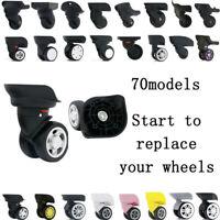 1pair Suitcase Luggage Spinner Caster Wheels Repair Swivel Wheels Replacement