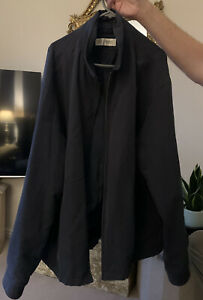 M&S XXL 2XL Jacket Marks And Spencer Mens Navy Bomber
