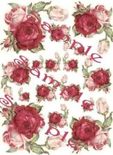 Shabby Roses Victorian  Waterslide Decals
