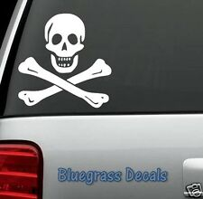 C1045 Jolly Roger Pirate Decal Sticker for Car Truck SUV Van Boat Edward England