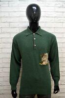 ICEBERG Maglione Uomo Pullover Maglia Taglia XL Sweater Cardigan Lana Verde