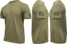 Mens Tactical Athletic Muscle T-Shirt with US Flag & Loop Field