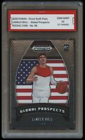 LAMELO BALL 2020 PANINI PRIZM GLOBAL PROSPECTS 1ST GRADED 10 ROOKIE CARD HORNETS
