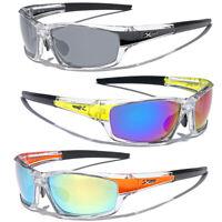 Mirrored Men Boys Sport Wrap Sunglasses Ski Cycling Baseball Running Glasses New