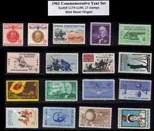 RJames: 1961 commemorative year set (17 stamps), MNH, F-VF