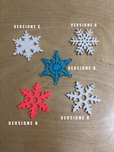 Fiocchi di neve 3D Printed Decorazione Albero di Natale Colori Assortiti