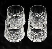 4 Waterford Crystal Lismore Roly Poly Old Fashioned Rocks Glasses 9 oz Excellent
