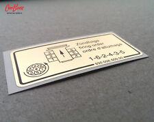 FIRING ORDER ENGINE DECAL, 911, 914 (1978 – 1983) porsche stickers nine eleven