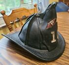 ANTIQUE CAIRNS & BROTHER LEATHER FIRE HELMET ~ VERY EARLY 1880'S - OHIO PFD #10
