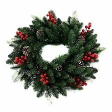 Christmas Wreath Door Decoration Artificial Foam Berry Wreath Natural Pine Cone
