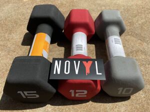 CAP Neoprene Hex Dumbbells 2 - 15 lb Singles or Pairs Lot (Choose Your Weight)
