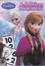 NEW Disney FROZEN Addition FLASH CARDS Teacher Resource 36 Math Learning Cards
