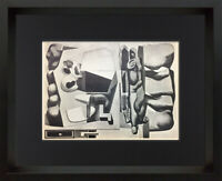 "Le CORBUSIER Lithograph ""Harmonic Rhythm Composition"" SIGNED 1931 w/ Frame"