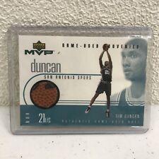 Tim Duncan GU Ball Card 1999 Upper Deck MVP Game-Used Souvenir San Antonio Spurs