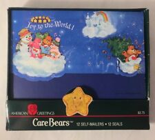 12 Care Bears Carebears Christmas Cards Vintage 1987 Postalettes Seal And Send