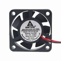 Gdt DC12V 2Pin 40mm 40x40x10mm Ball Bearing Brushless DC Cooling Chassis IDE Fan