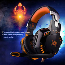 EACH G2000 Hifi Gaming Headset Stereo Headphone with Mic LED Light for PC Gamer