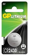 GP 2430 3V Lithium Coin Cell Batteries CR2430 DL2430 Battery - New