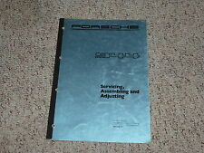 1982 Porsche 944 Adjusting Shop Service Repair Workshop Manual 1983 1984 1985