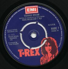 "MARC BOLAN*T.REX teenage dream*satisfaction pony 1973 UK EMI 7"" 45"