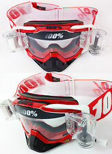 100% Percent Racecraft Motocross Gafas fuego rojo gsvs ROLL OFF SYSTEM