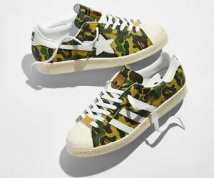 Adidas Superstar Bape ABC Camo Green, Men's US size 10 , New With Box, Free Ship