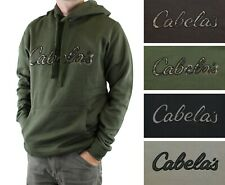 Cabela's Men's Fleece Hoodie Long Sleeve Sweatshirt with Logo & Kangaroo Pocket