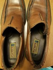 Clark's mens slip on dress shoes model 78872 size 10.5 brown Leather upper