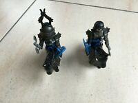 Playmobil 2 Chevalier/Soldat médiéval en armure noir avec cheval réf:3155 PL54