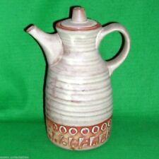 Tremar Pottery 2Pt Coffee Pot Pitcher Cornishware Vintage Retro Rustic