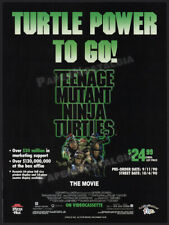Teenage Mutant Ninja Turtles: The Movie__Orig. 1990 Trade Print AD / advert_TMNT