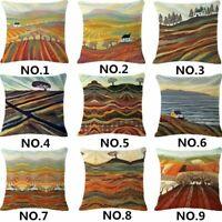 """18"""" Village Cotton Linen Fashion Throw Pillow Case Cushion Cover Home Sofa Decor"""