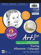NEW Pacon Art1st Tracing Paper Pad, 9 x 12 Inch 50 Sheet 2312) art artist first
