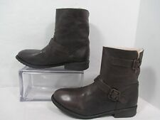 Zigi Soho Dark Brown  IMRIE  Leather Buckle Fashion Ankle Boots EUC Sz 8M