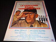 louis de funes LE GENDARME ET LES GENDARMETTES !  affiche cinema