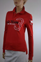 Ralph Lauren Skinny Fit Red Long Sleeve Polo Shirt/White Pony Match NWT $165