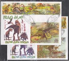 Irak,Scott Cat. 1786,1787-1788. Dinosaurier Set und S / Blätter. 2 Ersttagsbrief