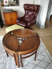 Vintage 1960's NATHAN Teak Danish Style Mid Century Coffee Table Nest