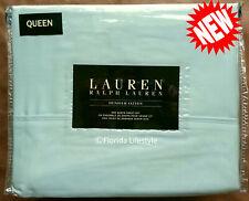 4-pc ☆ Ralph Lauren ☆ Dunham Queen Sheet Set Chalet Green 100% Cotton Sateen