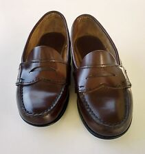 Eastland Sz 6 B M penny loafer shoe burgundy leather outsole hand sewn