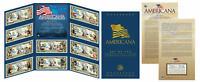 AMERICANA Set of 10 Legal Tender Colorized $2 Bills *LICENSED* Elvis Lucy & More