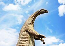 Dinosaure statue bleu ciel photo A3 art print poster YF5155