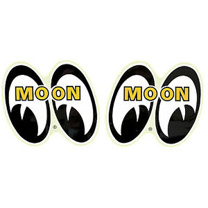 "Mooneyes pair of eyes logo 6"" high decal hot rod gasser rockabilly 1932 chev"