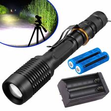 Military 8000LM POLICE LED Flashlight 5 modes T6 Light Torch Lamp +18650+Charger