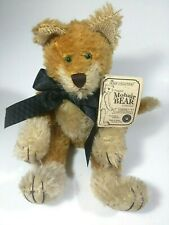 "✰Boyds Bears Mohair Collection 12"" Green-Eyed Jointed Cat Garner J. Cattington✰"